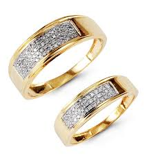 14k gold wedding ring sets 14k gold channel set wedding band set bridal jewelry
