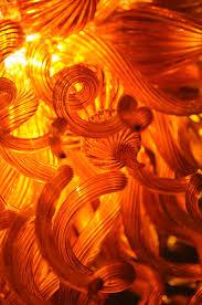 Orange Glass Chandelier Gold Amber Orange Chandelier Art Glass Chandeliers Gallery