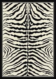 tappeto etnico tappeto moderno zebrato bianco e nero savana 115x160 cm