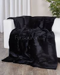 Faux Fur King Size Blanket Black Sectioned Sheared Beaver Fur Blanket Throw Fursource Com