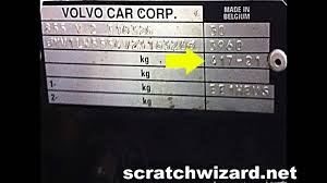 how to find your volvo u0027s paint code youtube
