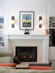 accessories white fireplace mantel and fireplace sconces plus