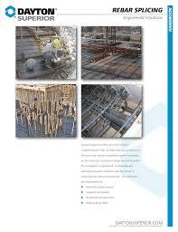 dayton superior rebar splicing handbook