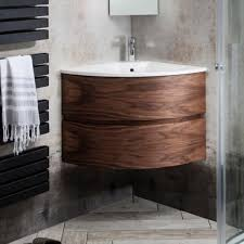 Corner Vanity Units With Basin Bauhaus Svelte American Walnut Corner Vanity Unit U0026 Basin