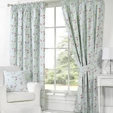 lined bedroom curtains ready made pippa floral print curtains duck egg from 20 curtains and