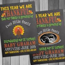 Announcing Pregnancy At Thanksgiving Thanksgiving Themed Pregnancy Announcement Chalkboard Poster