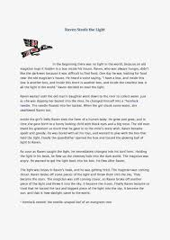 raven steals the light reading comprehension maya u0027s teaching blog
