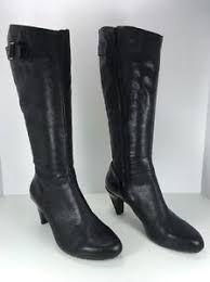 womens high heel boots size 9 s tsubo black leather knee high heel boots size 9 ebay