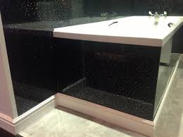 Bathroom Wall Cladding Materials by Small 17 Bathroom With Cladding On Black Sparkle Bathroom Wall