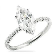 marquise diamond engagement ring 1 41 ct marquise diamond white gold engagement ring