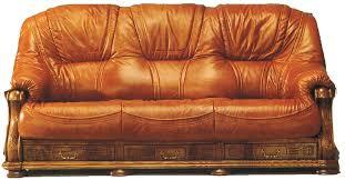 canapé cuir fauve canapé rustique 3 places cuir et bois anvers intermarché shopping