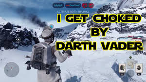 darth vader force choke star wars battlefront beta darth vader force chokes me youtube