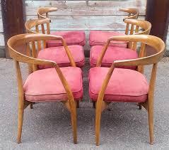 rare set of six lawrence peabody sculptural dining chairs dining