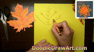 how to draw and make a maple leaf for fall make a paper maple