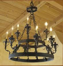 Wrought Iron Ceiling Lights C 01 Santa Barbara Style Wrought Iron Chandelier Haskell