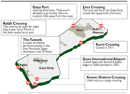 Map Of The Strip Trapped In Gaza Meet The Faces Behind The Blockade Of The Strip