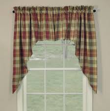 Primitive Swag Curtains Country Swag Curtains Saffron Swags 72 X 36