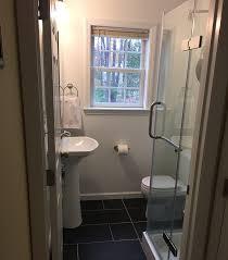 half bath a diyer adds a shower to a half bath riverbend home