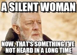 a silent woman obi wan kenobi meme on memegen