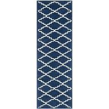 2 X 7 Runner Rug Safavieh Handmade Moroccan Chatham Blue Grey Wool Rug 2 U00273 X 7