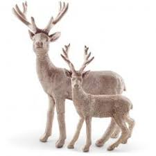 lilac polyresin standing stag ornaments