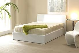 storage ottoman bed white 4ft6 double mattress memory foam sprung