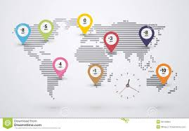 Time Map Time Map Of The World Stock Vector Image 53143804