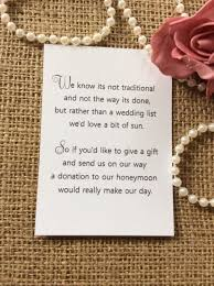 wedding registry money 25 50 wedding gift money poem small cards asking for money