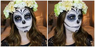 day of the dead makeup for halloween halloween makeup day of the dead sugar skull youtube
