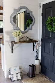 Entryway Wall Love This Entryway Decor My Entry Is Too Narrow For A Chest Or