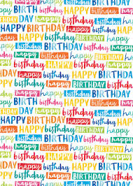 birthday gift wrap painted birthday gift wrap suitable for any age birthday