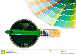 Different Shades Of Green Paint Green Paint And Swatch Royalty Free Stock Photos Image 34143208