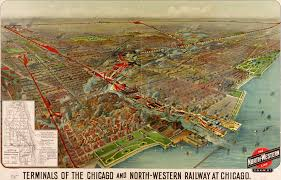 Map Of Chicago Illinois by Terminals Of The Chicago And North Western 1902
