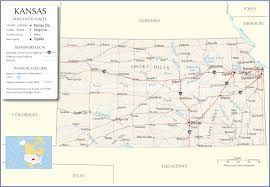 Map Of Ks Kansas Map Kansas State Map Kansas Road Map Map Of Kansas