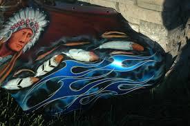 custom airbrush paint indian native american motorcycle designs