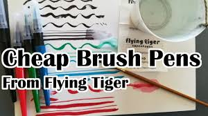 cheap brush pens from flying tiger impressions