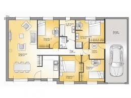 plan maison contemporaine plain pied 3 chambres frais plan maison plain pied 3 chambres charmant décoration d