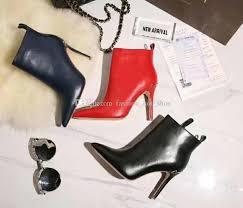 designer stiletto heels colorful stiletto heels leather booties fashion brand