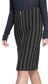 knee length skirt zara navy olive striped pencil knee length skirt size 0 xs 25