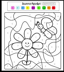 dessin en couleurs à imprimer chiffres et formes coloriages