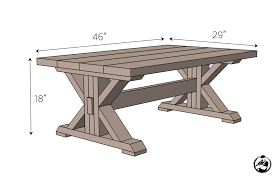 trestle coffee table free diy plans rogue engineer