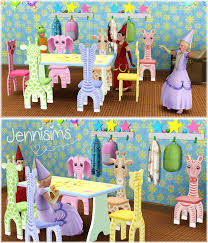 Woodworking Bench Sims by Jennisims Downloads Sims 3 Animal Kids Chairs Sims Pinterest