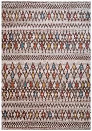 Modern Pattern Rugs Mid Century Retro Modern Multi Color Pattern Rug