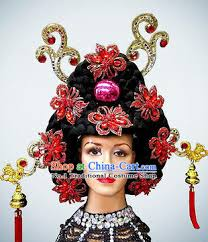 korean black wig and hair ornaments jpg