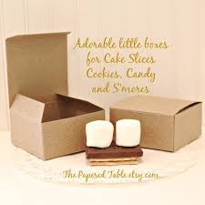 smores wedding favors cake favor boxes 12 small kraft favor boxes cake slice boxes