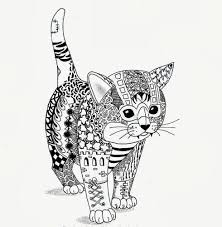efie goes zentangle kitten van ben kwok coloring pages