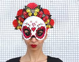 day of the dead masks day of the dead mask etsy