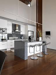 kitchen modern white kitchen design with green surface bars idea