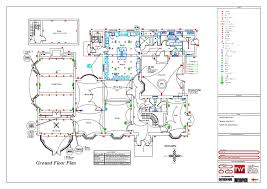residential building electrical design in autocad drawing