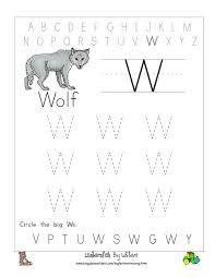 big w tracing worksheet doc ws pinterest tracing